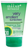 Very Emollient Mineral Sunscreen Fragrance Free SPF30 4 oz. Alba Botanica