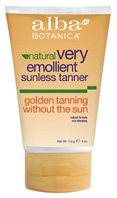 Natural Very Emollient Sunless Tanner, 4 oz. Alba Botanica