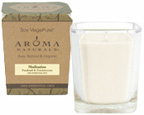 Soy Vegepure Large Square Glass Jar Meditation Aroma Naturals