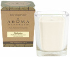 Soy Vegepure Large Square Glass Jar Peace Pearl Aroma Naturals