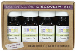 Essential Oil Discovery Kit 4 pc. Aura Cacia