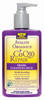 CoQ10 & Rosehip Wrinkle Therapy Cleansing Milk 8.5 oz. Avalon Active Organics