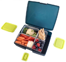 Classic Bento Lunch Box Night Pear 6 pc BENTOLOGY