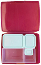 Classic Bento Lunch Box Raspberry Blue 6 pc BENTOLOGY