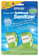 Snap-On Toothbrush Sanitizer  Dr. Tungs