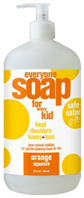 Everyone Soap Kids Orange Squeeze 32 oz. EO Products