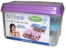 Lunch on the Go Container Set w/ Removable Ice Pack