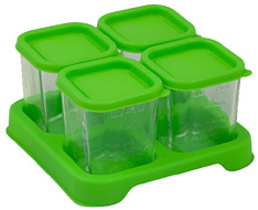 Fresh Baby Food Glass Cubes Green