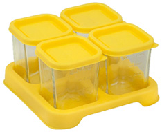 Fresh Baby Food Glass Cubes Yellow