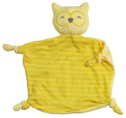 Organic Blankie Animal Yellow Owl Green Sprouts