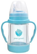 Glass Sip & Straw Cup Blue