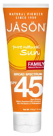 Family Sunscreen Broad Spectrum SPF45, 4 oz. Jason Natural Cosmetics