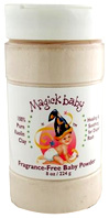 Baby Powder White Clay 8 oz. Magick Botanicals