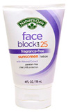 Face Broad Spectrum Sunscreen SPF 25, 4 oz. Nature's Gate