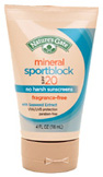 Mineral Sport Broad Spectrum Sunscreen SPF 20, 4 oz. Nature's Gate