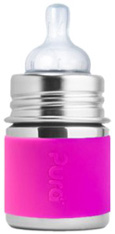 Kiki Infant Bottle PINK Pura Stainless
