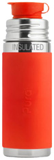 Pura Kiki Vacuum Insulated Sport Bottle with Sleeve ORANGE 9 oz.