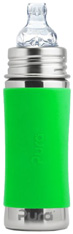 Pura Kiki Toddler Bottle (Sippy Cup) with Sleeve GREEN 11 oz.
