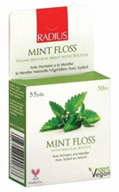 Xylitol Mint Dental Floss 55 yards  RADIUS