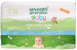 Baby Wipes Unscented 128 count Seventh Generation