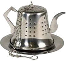 Stainless Steel Tea Infuser & Tray Teapot
