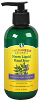 Neem Liquid Hand Soap Soothing & Calming Lavender 8 oz. Theraneem Naturals