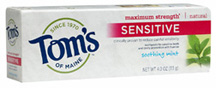 Sensitive Toothpaste Maximum Strength Soothing Mint 4 oz.Tom's of Maine